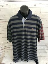 Mens Tommy Hiltiger Color Blocking Polo Shirt Size XXL Tommy Crest