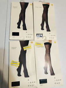 A new day fashion tights lot of 4 S/M