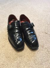 New Rock Black Monk Strap Leather Shoe Size 8.5 U.K. EUR 42.5