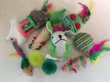 Cat toy mice & balls Fur/Sisal/Feathers/jingle Bell/Rattle/Catnip/ 9pcs