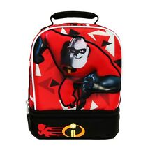 DISNEY INCREDIBLES 2 Dual Chamber Lead&PVC Safe Insulated Lunch Tote Bag Box NWT