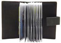 XL LEDER KREDITKARTENETUI KARTENETUI VISITENKARTENETUI SCHECKKARTENETUI SCHWARZ