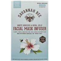 Savannah Bee Company White Hibiscus and Royal Jelly Facial Mask Infuser New