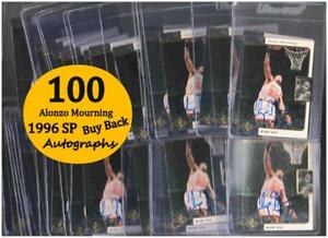 100 ALONZO MOURNING #33 1996 SP Scoreboard BUYBACK Autograph Cards AUTO #/734