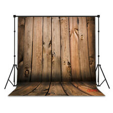 Us Stock 5x7ft Rustic Wood Planks Wall and Floor Vinyl Backdrop Photo Background