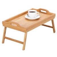 Frühstück Tisch Betttablett Serviertablett HOLZ Tablett Klappbar 49,5x29,5x24cm