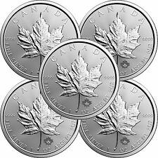 2017 Canada Silver Maple Leaf 1oz BU 5pc