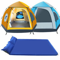 Waterproof Outdoor Camping Auto Pop Up Tent / Self Inflating Mattress Double NEW