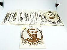 1979 Frank Garo Civil War Confederate Generals Full Set Trading Cards 1st Series