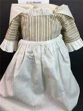 American Girl Felicity Work Outfit~Dress/Gown~Apron~K erchief~Pleasant Company