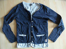 IKKS BELLE tricot veste en superposé bleu foncé taille 10 J/140 kj1