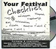 PARKPOP PROMO CD MANIC STREET PREACHERS OASIS JEFF BUCKLEY URBAN HEROES
