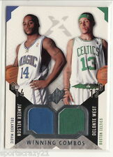 2004-05 UD Spx JAMEER NELSON /DELONTE WEST Rc Dual Jersey Winning Combos