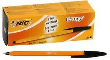 VINTAGE BIC  FINE POINT BLACK INK ORANGE BODY NOSTALGIC PEN! BRAND NEW QTY 1 DOZ