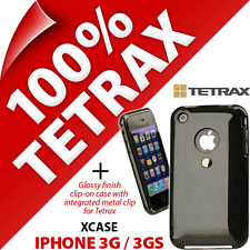 Tetrax Xcase para Apple iPhone 3G/3GS De protección Integrado Clip Carcasa Negra