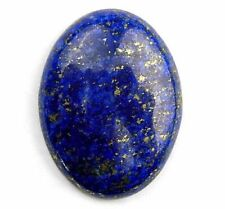 LARGE 25x18mm OVAL CABOCHON-CUT ROYAL-BLUE NATURAL LAPIS LAZULI GEMSTONE