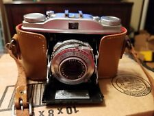 Ansco Regent folding 35 mm Camera Germany w Case 1:3.5/50 Lens Excellent Cond B