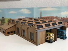 Laser Cut OO Gauge Model Railway Bus Garage Shed 1:72 Scale Wooden Kit