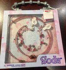 2x KID'S JEWELRY SET IN A GIFT BOX BY SODA AGE 8 & UP NEW lot of 2