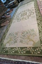 Antique Portuguese Hand Wove Needlepoint Wool on Jute Gallery Rug  6'3 x 16'9