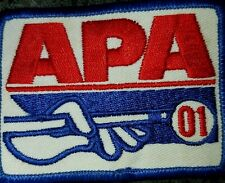 APA 2001 MEMBERSHIP PATCH PATCHES AMERICAN POOLPLAYERS