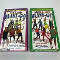 Richard Simmons Mega Mix & Disco Blast-Off VHS, New Factory Sealed, Workout Tape