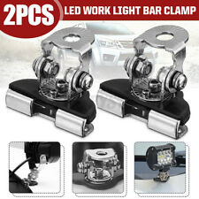 2Pcs Universal Car A-Pillar Hood LED Work Light Bar Mount Bracket Clamp Holder
