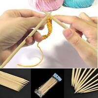 55Pcs Double Pointed Bamboo Knitting Needles Glove Sweater Knit Tools Set Useful