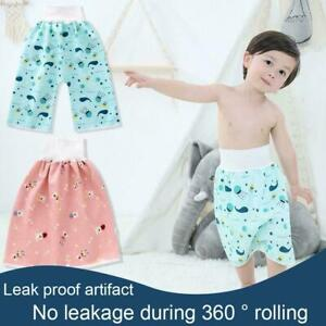 Children's Baby Diaper Skirt Shorts Waterproof and Shorts Absorbent Comfort E0Q2