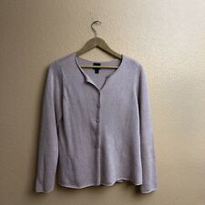 Eileen Fisher Light Pink Cardigan New Condition Size L Petite