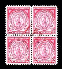 US stamp #683 used block of 4, Charleston SC SUPERB centering, light cancel, GEM