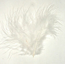 """Feathers Fluffy WHITE  Marabou 3-8"""" 7 gram bag Aprox 35"""