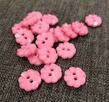 20 X Light Pink 14mm Daisy Plastic Buttons- Australian Supplier