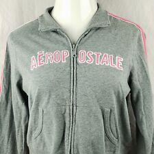 Aeropostale Size XL Jacket Zip Warm-Up Varsity Athletics Gray Extra Large Womens