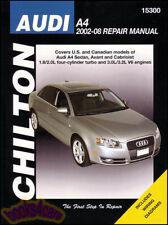 SHOP MANUAL A4 SERVICE REPAIR AUDI BOOK CHILTON QUATTRO HAYNES 2002-2008