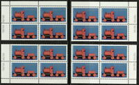 CANADA #839 15¢ Christmas Toys Matched Set Inscription Blocks MNH