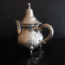 Théière SARTIC SA métal argenté fait main Art Nouveau Déco Maghreb Maroc N3144