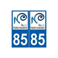 85 Île de Noirmoutier autocollant plaque sticker arrondis