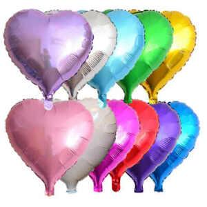 HEART FOIL BALLOONS HELIUM/AIR  Wedding Party Birthday