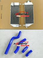 Aluminum Radiator For Yamaha YZ 250 YZ250 YZ250X YZ250G 2002-2019 & Blue Hose