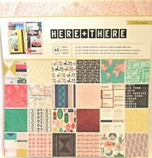 Crate Paper~HERE + THERE 12 X 12 Paper pad~48 pages~Cute! QUICK SHIP!