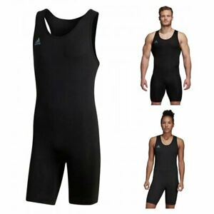 Adidas Powerlift Weightlifting Singlet Adult UNI Bodybuilding Black Suit CW5648