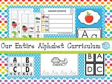 Our Entire Preschool Alphabet Curriculum on a Usb Flash Drive. Prints 1500+ pgs.