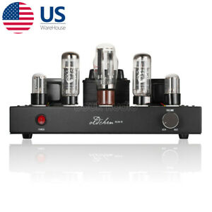 EL34 Hi-Fi Audio Stereo Vacuum Tube Amplifier Single-end Class A Power Amp Black