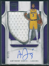 2019-20 Anthony Davis Panini Crown Royale Silhouettes JERSEY AUTO (2/25) LAKERS