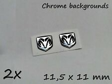 2x Dodge 3D Aufkleber-Set für Schlüssel, Handy, Tablet... Chrom-Effekt