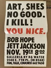 BOB HOPE JETT JACKSON Promotional Poster Fun Talk Show ART, SHES NO GOOD. I KILL