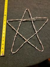 VINTAGE BARB WIRE STAR RUSTIC. WESTERN ,INDUSTRIAL CABIN & LODGE,DECORATION