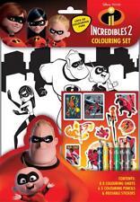Disney Incredibles 2 Colouring Set