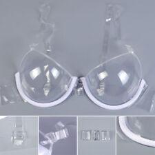 Damenmode Push-up BH Rücken transparent durchsichtig Braut Hochzeit Unsichtbar